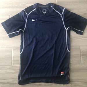 Nike navy blue training top.